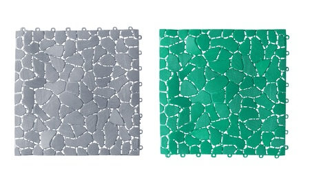 Anti slip plastic tiles for bathroom or wet area Stock Photo - 17623948