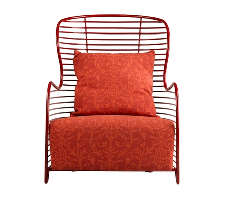vintage chair: Beautiful red armchair nice for your living room
