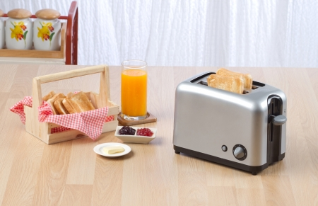 toaster:  Bread toaster the kitchenware you need for preparing your breakfast