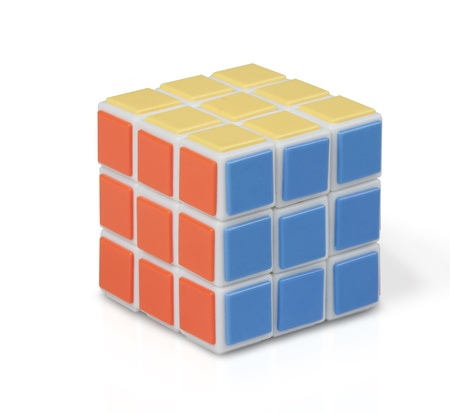 rubic cube on white background
