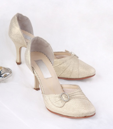 The elegant shoes for the bride photo