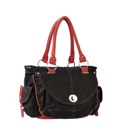 A luxury black leather lady handbag Stock Photo - 18116722