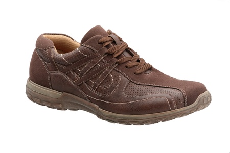 A casual brown leather man shoe Stock Photo - 18117231