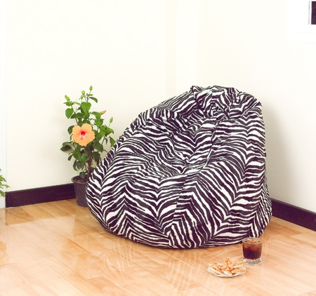 Flexible and adjustable seat beanbag for your living room Stock Photo - 18117240