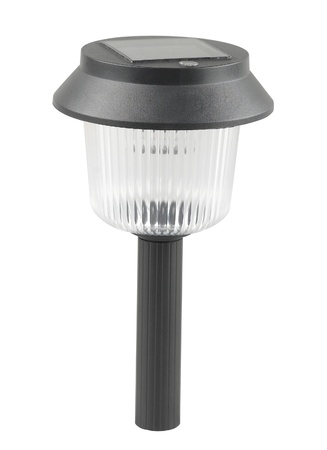 A solar cell ground lamp for the pathway in the garden or park photo