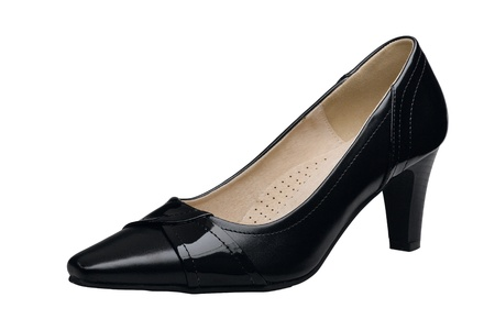 Beautiful leather shoe to working or party for lady Stock Photo - 18317419