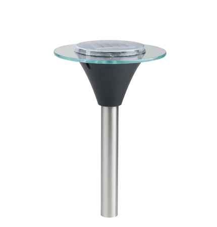 A solar cell ground lamp for the pathway in the garden or park Stock Photo - 18514739