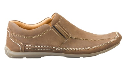 Un Hombre De Cuero Casual Zapatos Para Actividades Al Aire