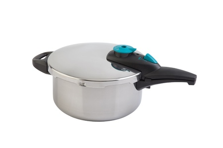 High pressure aluminum cooking pot with safety cover