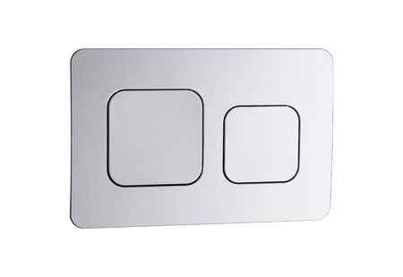 Economic toilet flush press with two separate buttons Stock Photo - 18842163