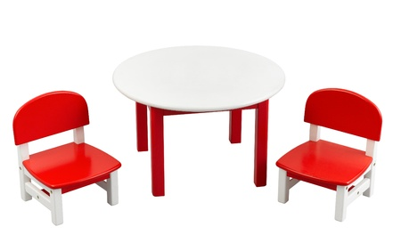 illiteracy: Nice and comfortable colorful wooden kids chair and table set