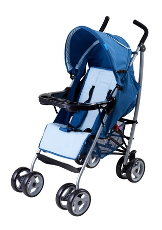 A modern pram isolated on white background Stock Photo - 19222385