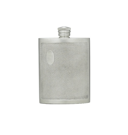 pewter: Outdoor pewter hip flask for water or alcohol