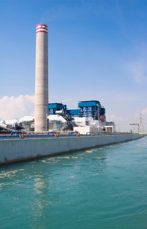 propylene: Electric generator power plant behind the canal of cooling water ventilation systems