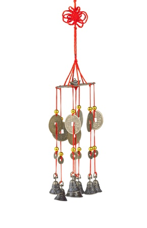wind chime: A lot of stone fishes wind chime, the chinese feng shui Stock Photo