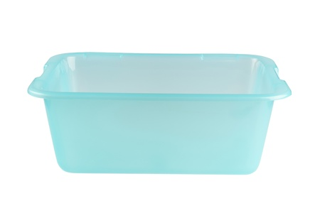 bin: Empty plastic container on white background