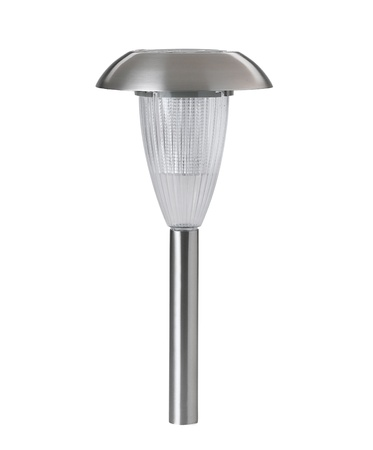 Solar cell lamp to lights the pathway at the night time photo