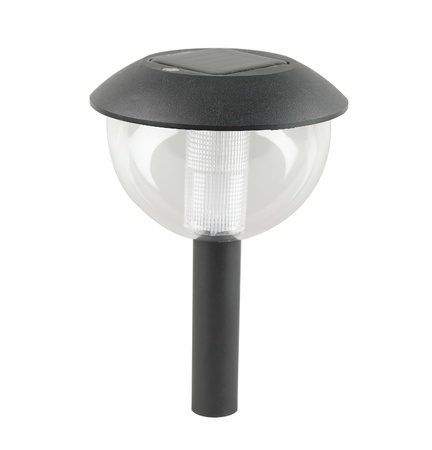 A solar cell ground lamp for the pathway in the garden or park Stock Photo - 20719698