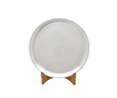 pewter: A luxury pewter dish for special dinner or home decoration