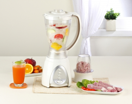 You can make juice and smoothies or blend some pork by using the same blender machine photo