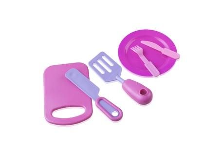 Toy kitchenware isolated on white background Stock Photo - 20994376