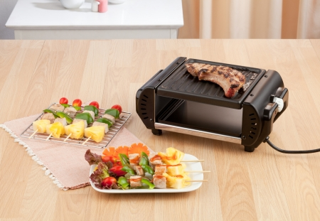 electric grill stove for your barbecue or steak photo