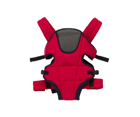 baby carrier: A cute red baby carrier a comfortable tool for mother