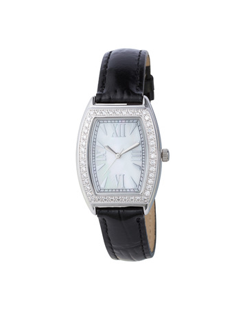 beautiful wrist watch decorated by crystals  photo