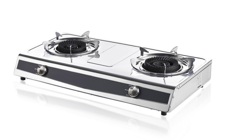 portable gas stove isolated on white background