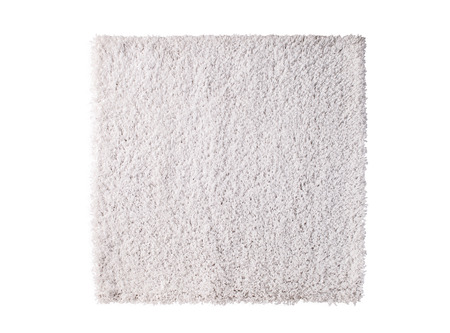 white carpet isolated on white background