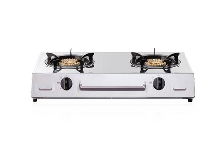 Portable gas stove isolated on white background Archivio Fotografico