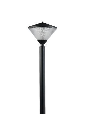 electric avenue: floor lamp for decorate garden or walkway Stock Photo