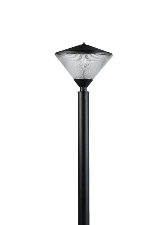 electric avenue: floor lamp for decorate garden or walkway Stock Photo