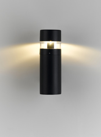 halogen lighting: A modern wall lamp with lighting for decorate exterior, garden or walkway