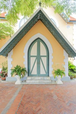 ayuttaya: European style building at Niwet Thammaprawat temple, Ayuttaya province, Thailand