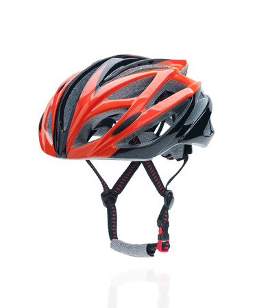 Bicycle mountain bike safety helmet isolated on white