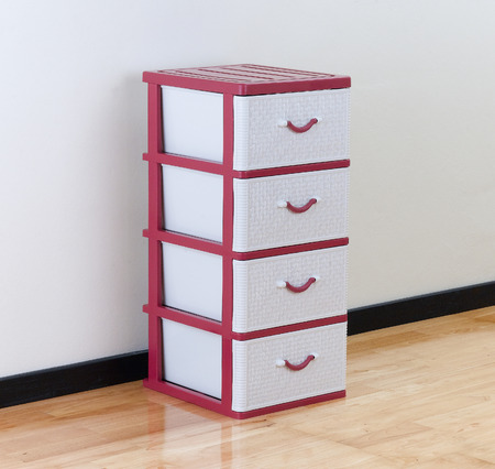 viewable: A plastic cabinet with drawers for home or office using Stock Photo