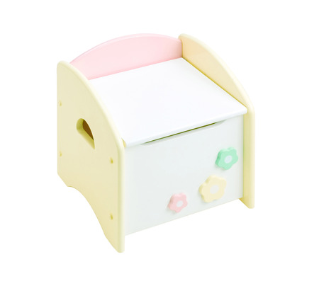 adapted: A cute cabinet for children which can be adapted to be a chair Stock Photo