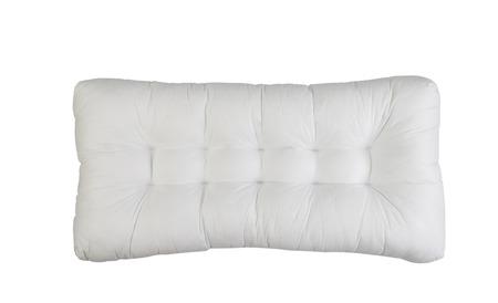 big white pillow isolated on white background Reklamní fotografie - 121745377