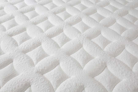 closeup of brand new clean texture white surface mattress, beautiful background