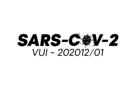 Modern design inside Sars-Cov-2 text. Sars-Cov-2 vector template. Vector illustration, mark, for design.