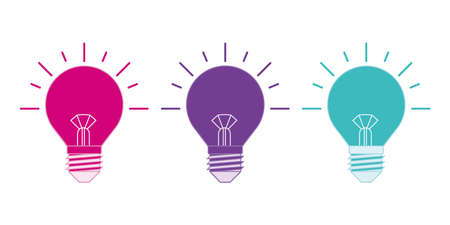 The light bulb is full of ideas And creative thinking, analytical thinking for processing. Colorful Light bulbs icon vector. ideas symbol illustration.