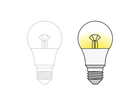 Light bulb line icon with editable strokes. Concept of idea, solution. Vector outline icon with editable stroke. Light bulb on white background. Vector illustration.