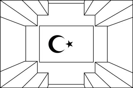 Vector work drawn inside the Çanakkale Martyrs Monument. It is a monument built for the Battle of Çanakkale. technical drawing
