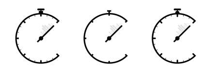 Clock silhouette flat icon, simple vector design with shadow. Stopwatch illustration. Device to display time and time limit. Symbol of speed. Stopwatch and clock flat sign symbols logo illustration.