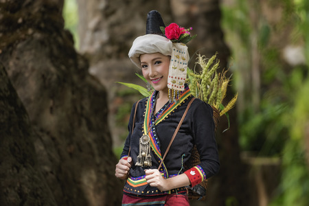 Woman at an indigenous tribe in Laos.