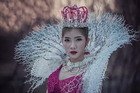 A beautiful girl wearing a beautiful princess,princess girl.
