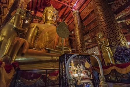 Buddha statue in Buddhism temple Thailand,Temple landmark of Bangkok,identity culture of Thailand