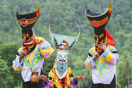 Loei, Thailand,Ghost Mask and Costume Colorful Festival Phi Ta Khon Festival,colorfully Ghost Mask.
