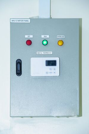 Control cabinet ,Control Room. Power Plant Control Panel.